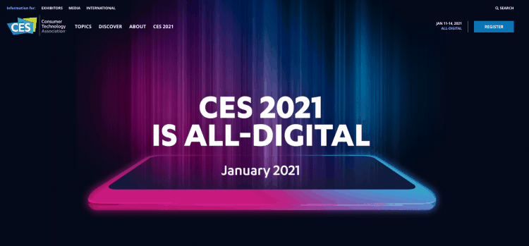 CES 2021 has changed dates to January 11-14, 2021.