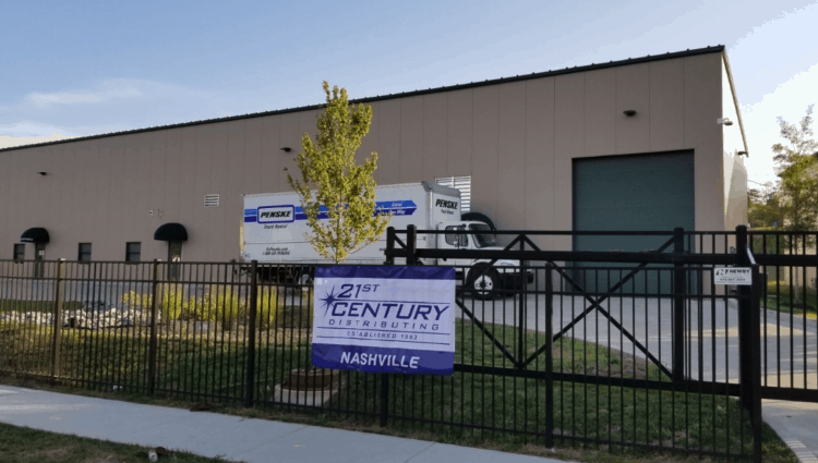 The new, larger, location located in the heart of the greater metro Nashville area, replaces 21st Century's existing warehouse in Smyrna, Tennessee.