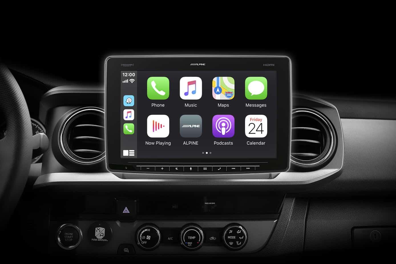 Alpine Halo11 Model iLX-F411_Apple Carplay_Tacoma
