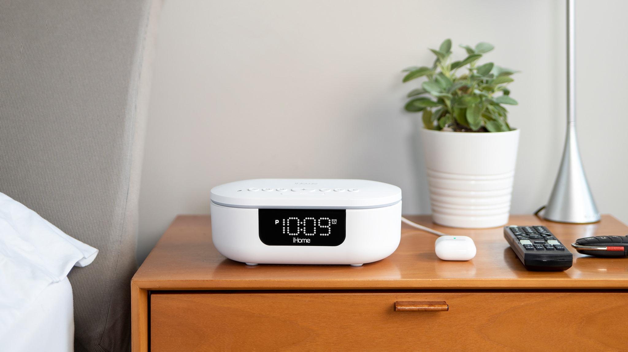 iHome UVBT1 UV-C Sanitizer and Bluetooth Alarm Clock Speaker