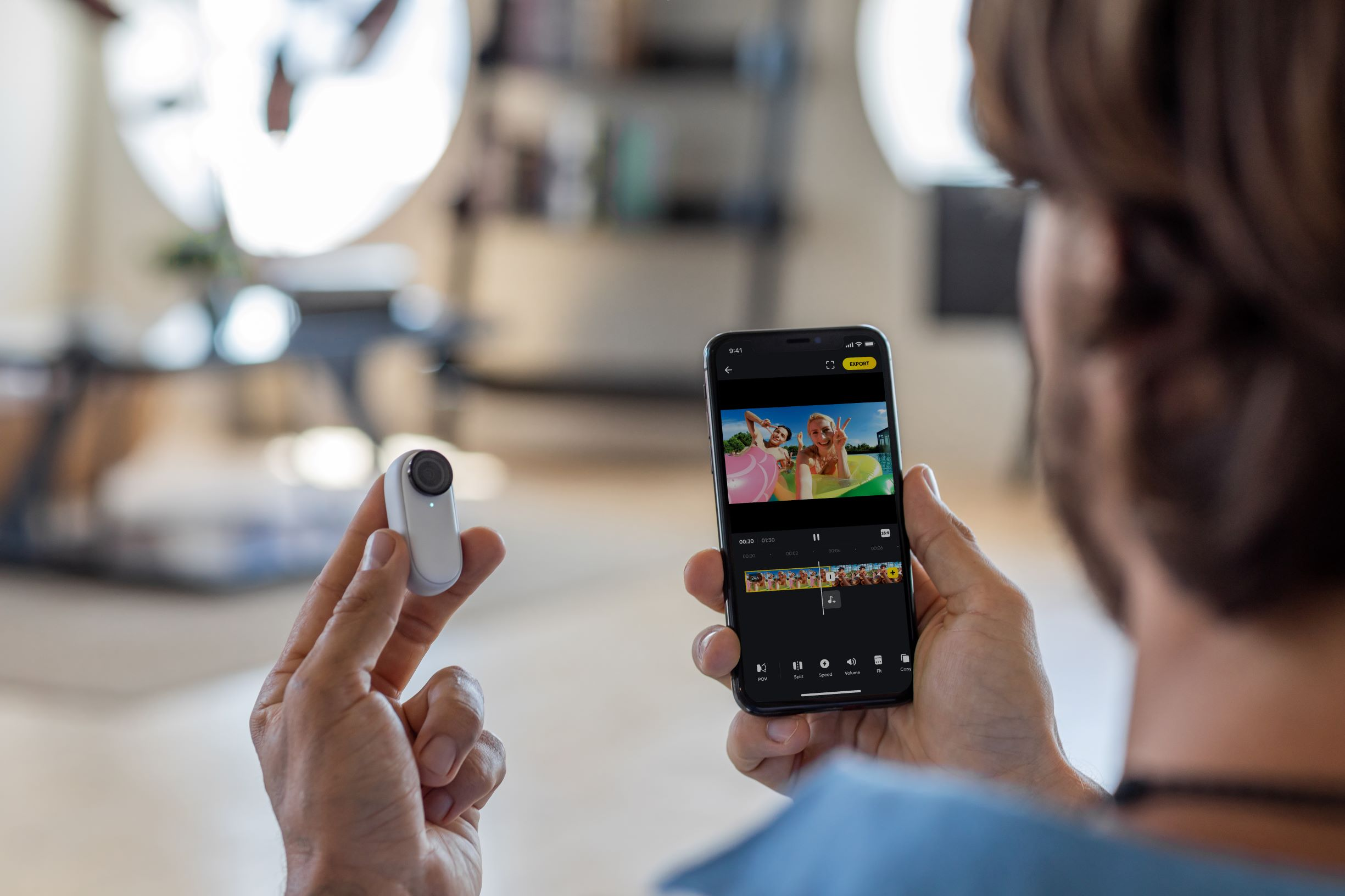 Insta360 GO 2 action cam with mobile app