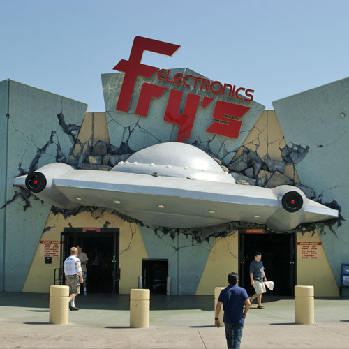 Fry's Electronics Burbank Retro Space Entrance