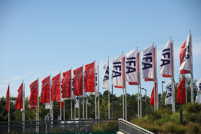 Flags at IFA 2020 Special Edition in Berlin