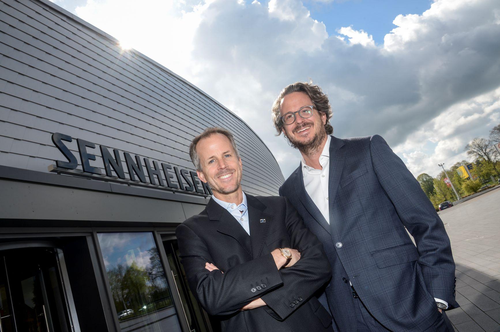 Dr. Andreas Sennheiser (left) and Daniel Sennheiser