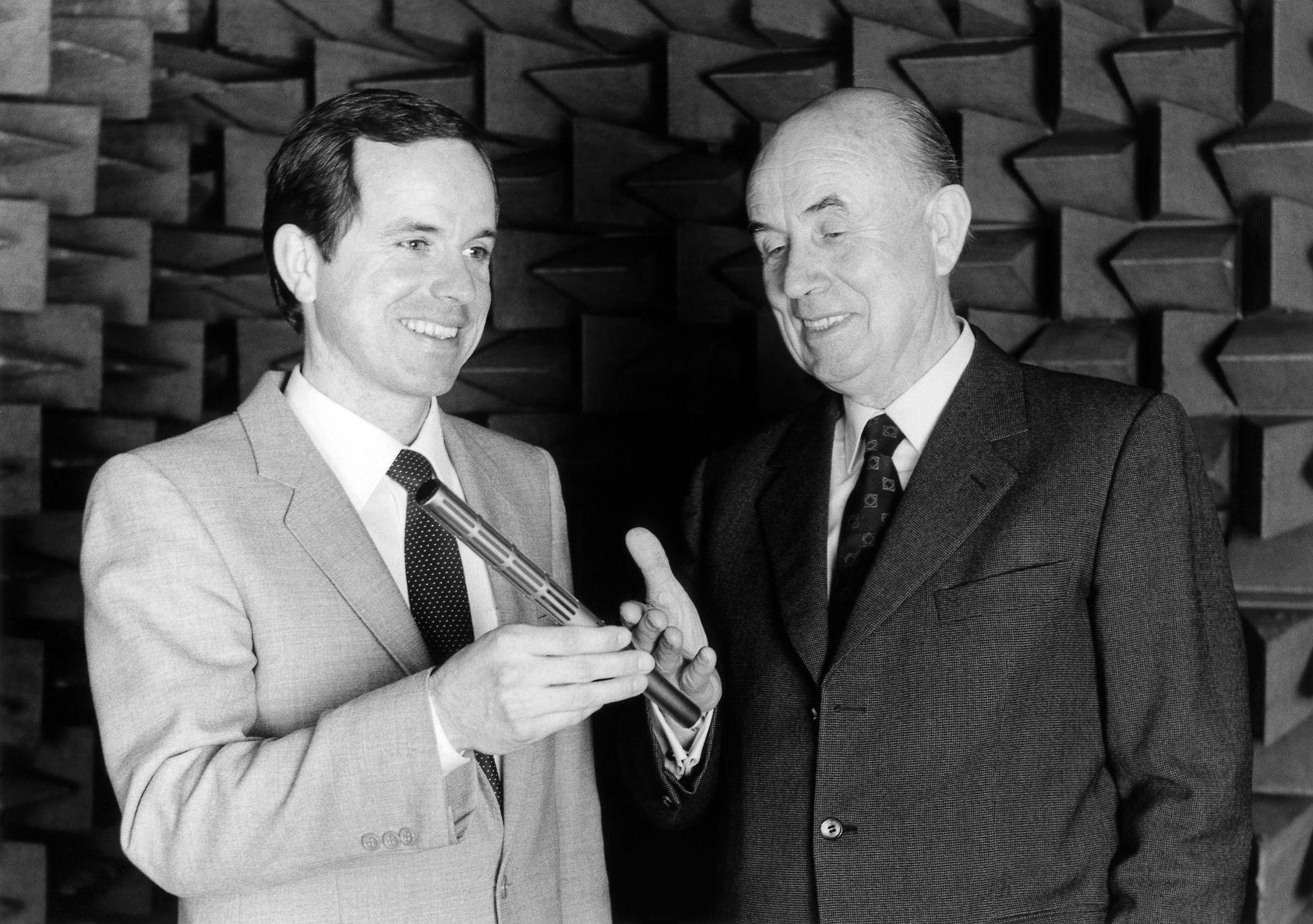 Joerg Sennheiser and Fritz Sennheiser in 1982