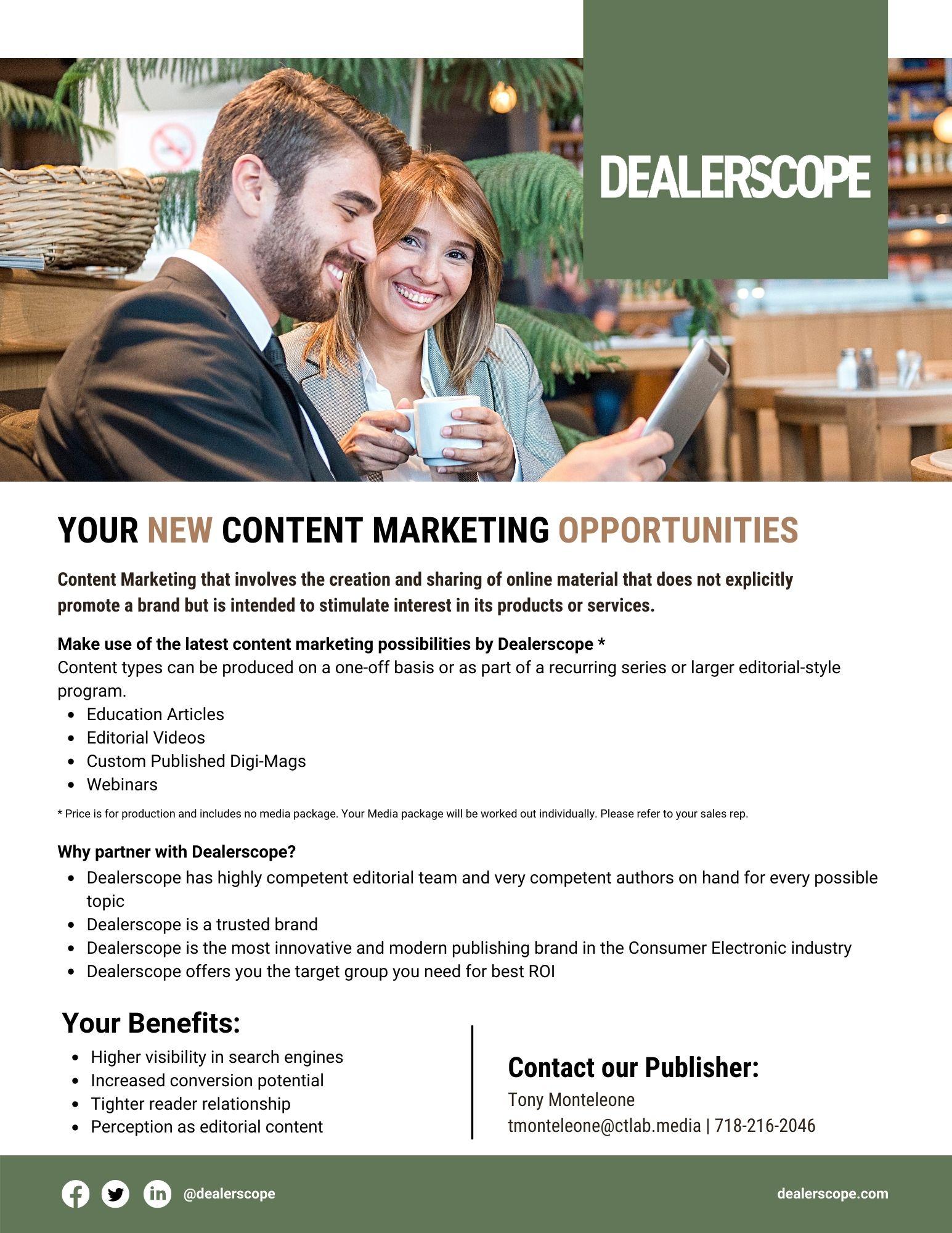 DS Content Marketing Sale Sheet
