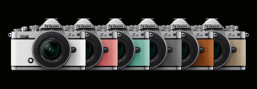Nikon Z fc DX-format lightweight camera combines in six vibrant color options.