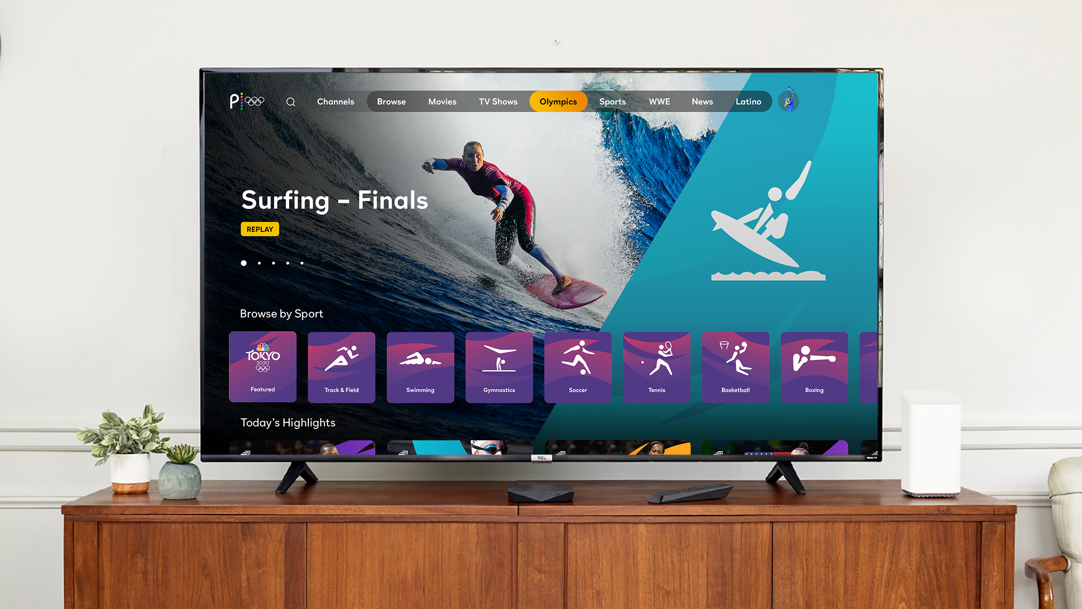 Xfinity Olympic Surfing Coverage