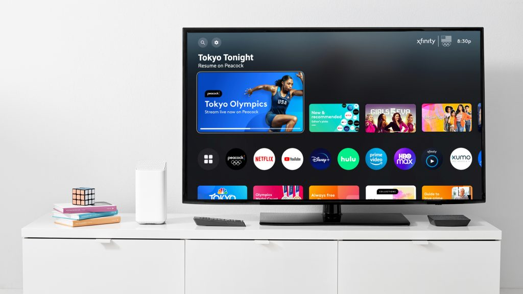 Xfinity Olympic TV coverage menu