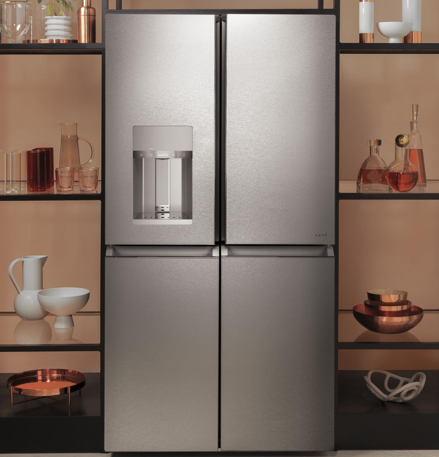 Latest Refrigerator Technologies GE Cafe Quad Door Refrigerator