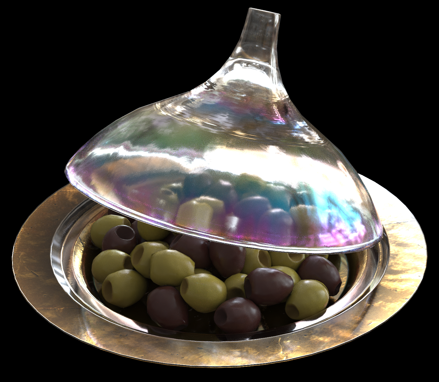 3D Commerce Glass Cover Ray Traced