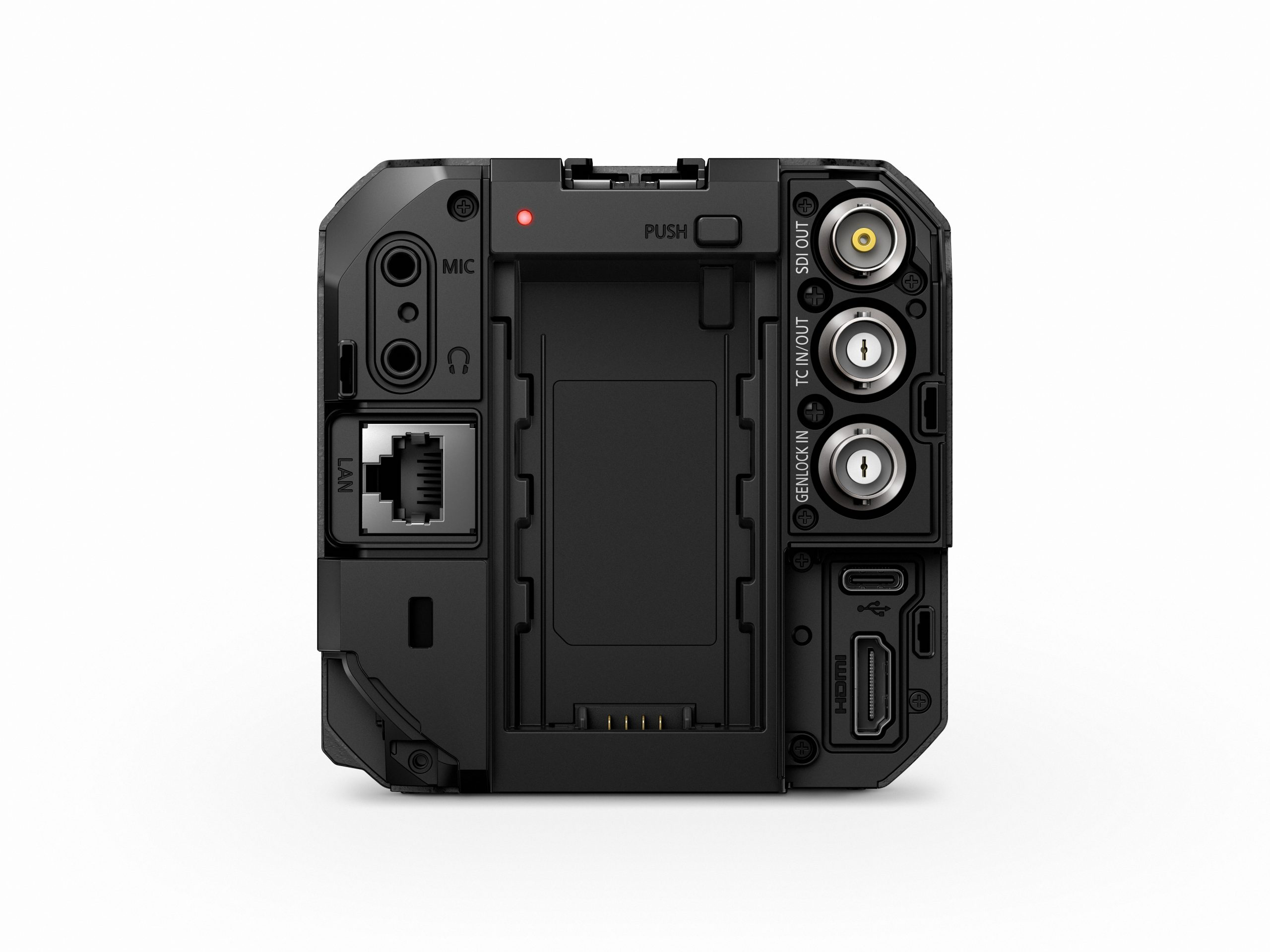 A backside view of the LUMIX BS1H camera