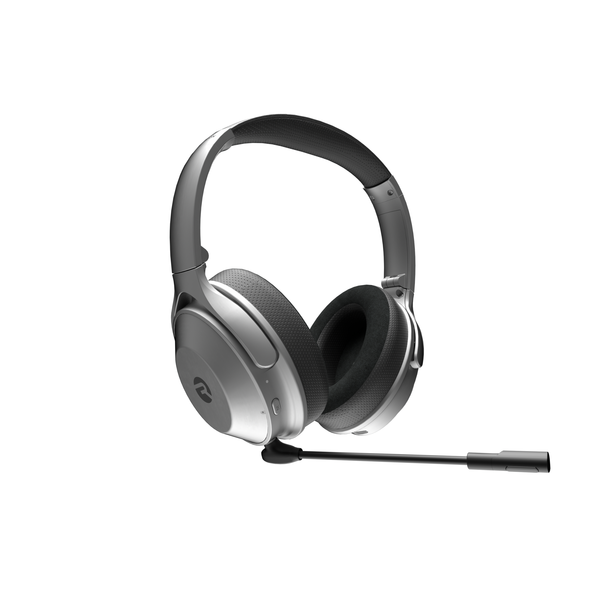 Remote work devices: A picture of the Work Headphones with detachable boom mic.